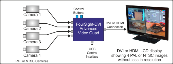 Typical FourSight-DVI Application